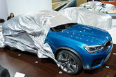 BMW X4 car on display at the LA Auto Show. — Stock Photo