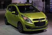 Chevrolet Spark car on display at the LA Auto Show. — Stock Photo