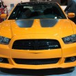Постер, плакат: Dodge Charger SRT8 Super Bee car on display at the LA Auto Show