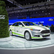 Stock Photo: Ford Fusion Energi Coca-Colo car on display at LAuto Sho