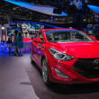 Hyundai Elantra Coupe car on display at the LA Auto Show. — Stock Photo