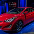 Hyundai Elantra car on display at the LA Auto Show. — Stock Photo