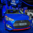 Hyundai Veloster car on display at the LA Auto Show. — Stock Photo