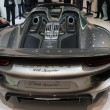 Stock Photo: Porshe 918 Spyder car on display at LAuto Show.