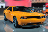 Dodge Challenger car on display at the LA Auto Show. — Stock Photo