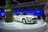 Ford Fusion Energi Coca-Cola o car on display at the LA Auto Sho — Stock Photo