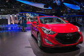 Hyundai Elantra Coupe car on display at the LA Auto Show. — Photo