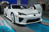 Lexus LFA car on display at the LA Auto Show. — Stok fotoğraf