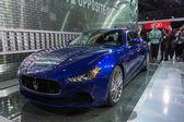 Maserati Ghibli car on display at the LA Auto Show. — Stok fotoğraf