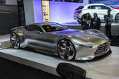 Mercedes-Benz AMG Vision Gran Turismo car on display at the LA A — Stock Photo