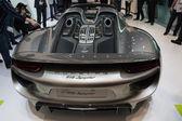 Porshe 918 spyder auto in esposizione presso il salone dell'auto la. — Foto Stock