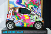 Smart colors car on display at the LA Auto Show. — Stock Photo