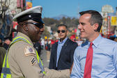Eric Garcetti, Los Angeles Mayor, at the 115th Annual Golden Dra — Stock Photo
