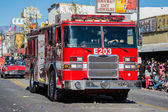 Fire Truck during Golden Dragon Parede — Stock Photo