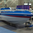 Boat on display at the Los Angeles Boat Show on February 7, 2014 — Foto de Stock