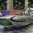Boat on display at the Los Angeles Boat Show on February 7, 2014 — Stok fotoğraf