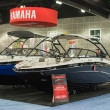 Yamaha boats on display at the Los Angeles Boat Show on February — Stock Photo
