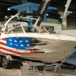 Boat on display at the Los Angeles Boat Show on February 7, 2014 — Zdjęcie stockowe