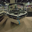 Boat on display at the Los Angeles Boat Show on February 7, 2014 — Stockfoto