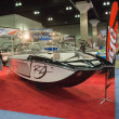 Boat on display at the Los Angeles Boat Show on February 7, 2014 — Foto Stock #40433781