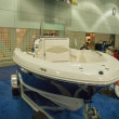 Boat on display at the Los Angeles Boat Show on February 7, 2014 — Foto Stock #40435453