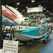 Boat on display at the Los Angeles Boat Show on February 7, 2014 — Foto Stock #40435469