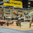 Nautique stand at the Los Angeles Boat Show on February 7, 2014 — Stock Photo