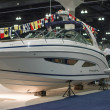 Regal boat on display at the Los Angeles Boat Show on February 7 — Stok fotoğraf