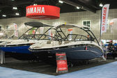 Yamaha boats on display at the Los Angeles Boat Show on February — Stok fotoğraf