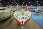 Boat on display at the Los Angeles Boat Show on February 7, 2014 — 图库照片