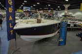 Cobalt boat on display at the Los Angeles Boat Show on February — Stockfoto