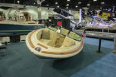 Boat on display at the Los Angeles Boat Show on February 7, 2014 — Stock Photo