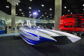 M-31 boat on display at the Los Angeles Boat Show on February 7, — Stockfoto