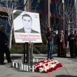 Постер, плакат: People protesting at the Consulate of Azerbaijan in Memory