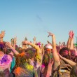 People celebrating Holi Festival of Colors. — Stock Photo #42294865