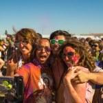People celebrating Holi Festival of Colors. — Stock Photo