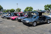 DMC De Lorean on exhibition at the annual event Supercar Sunday — Stock Photo