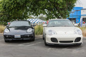 Porsche on exhibition at the annual event Supercar Sunday Ferrari Day — Stock Photo