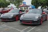 Porsche on exhibition at the annual event Supercar Sunday Ferrari Day — Stock Photo