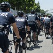 Постер, плакат: Police on the street during the LA Kings Stanley Cup Parade Celebration