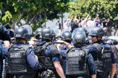 Police on the street during the LA Kings Stanley Cup Parade Celebration — 图库照片