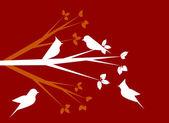 White birds — Stock Vector