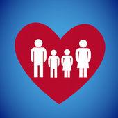 Family heart — Stock Vector