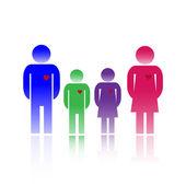Famiglia colori — Vettoriale Stock