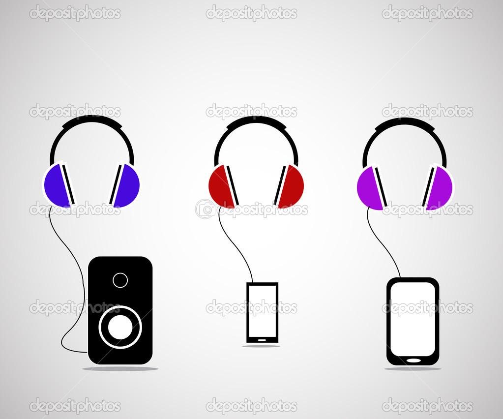 耳机— 图库矢量图像08