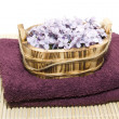 Scented Soap Flowers on Towels — Stock Photo