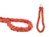 Rood koraal ketting — Stockfoto