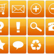 Orange Glossy Web Icon Set — Stock Photo #18470101