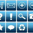 Blue Glossy Web Icon Set — Stock Photo #18470103