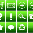 Green Glossy Web Icon Set — Stock Photo #18470105